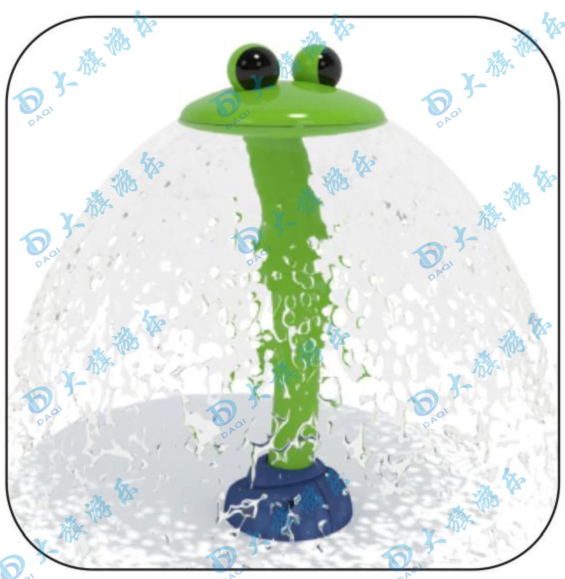 直立青蛙喷水
